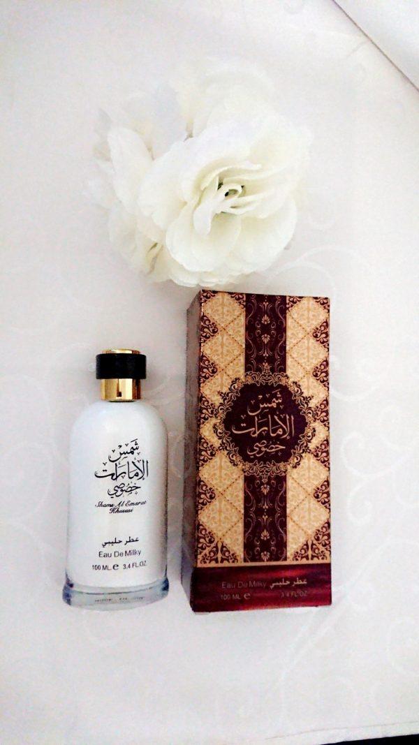 eau de milky shams al emarat ard al zaafaran